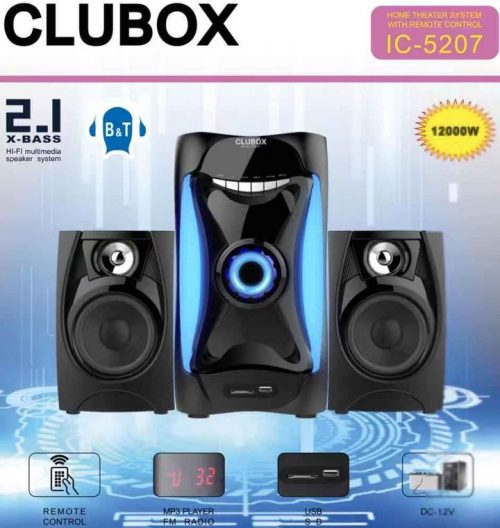 CLUBOX Bluetooth Subwoofer Speaker System IC-5207