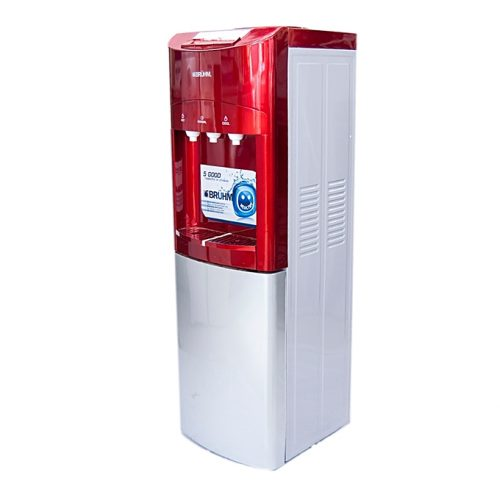 Bruhm Hot & Cold - 3 faucet Water Dispenser - Red & Silver-BWD HNC 89R