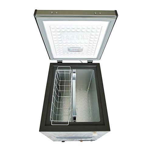Bruhm Chest Freezer- 105 Ltrs - (4.5 Cuft) Silver-BCF-SD100
