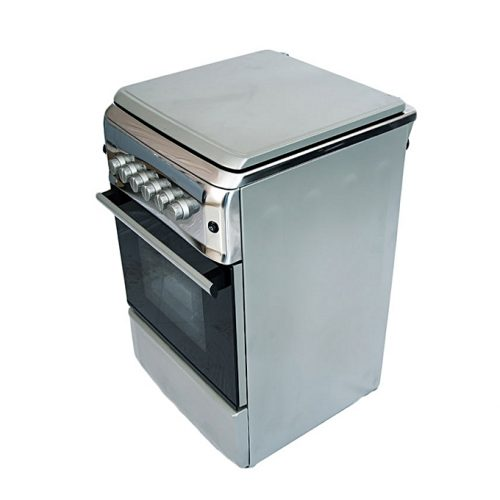 Bruhm 4 Gas Burner,Gas Oven ,Stainless Steel Standing Cooker - Silver-BGC 5040NX