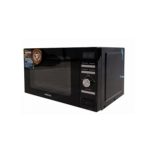 Bruhm Digital Control Microwave Oven With Grill – 20 Litres – Black-BMO-720DB