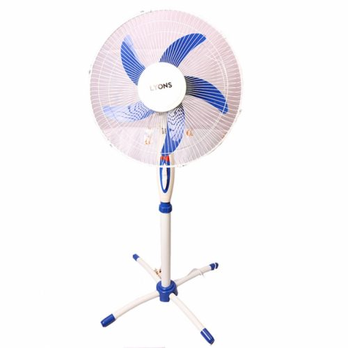 Lyons Stand Fan Powerful and Quiet ,5-Speed, Household Fan air conditioner Blue-FS-1601