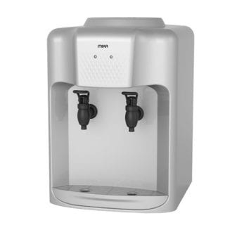 Mika Water Dispenser, Table top, Hot & Normal, Silver & Black