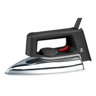 Dry Iron, Ceramic Soleplate, Black & Grey
