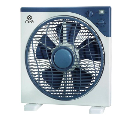 "Box Fan, 12"", Square, Light & Dark Grey"