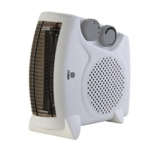 Fan Heater, 1000-2000W, White