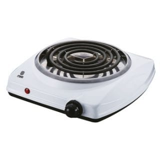 Hot Plate, Single, 1500W, White