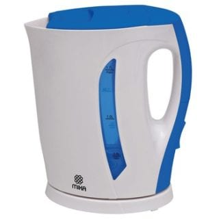 Kettle (Electric), Plastic, 1.7L, Cordless, White & Blue