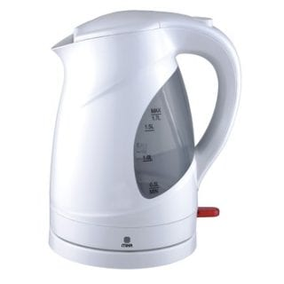 Kettle (Electric), Plastic, 1.7L, Cordless, White & Grey