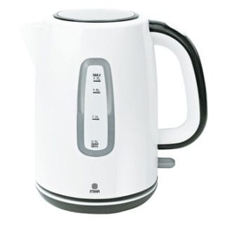 Kettle (Electric), Plastic, 1.7L, Cordless, Off white & Black