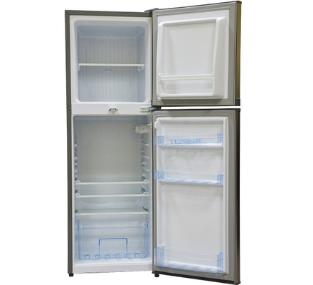 Refrigerator, 138L, Direct Cool, Double Door, Dark Silver