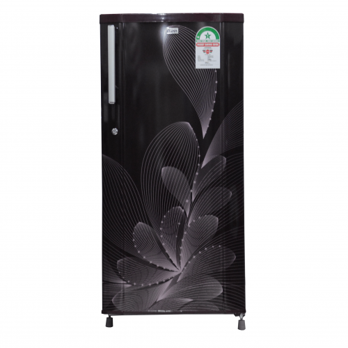 Mika Refrigerator, 170L, Direct Cool, Single Door, Red Ornate