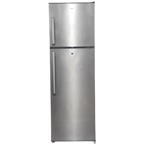 Mika No Frost Refrigerator, 251L, Double Door, Brush Stainless Steel