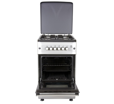 Standing Cooker, 50cm X 55cm, 4GB, Gas Oven, Metalic Silver