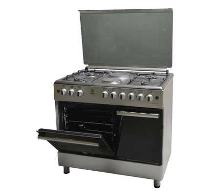 Standing Cooker, 90cm X 60cm, 4 + 2, Electric Oven, Silver