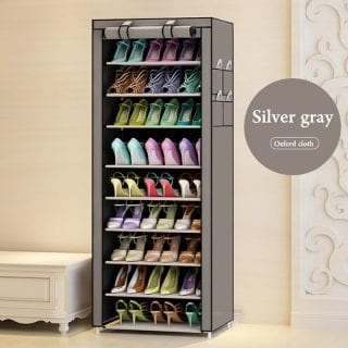 Portable Shoe Rack - Single Column-27 Pairs- Gray