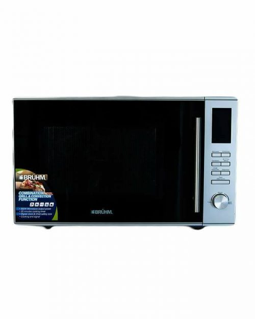 Bruhm Microwave with Grill & Convection - 30 Litres - Silver-BMO930