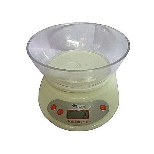STERLING Digital Kitchen Scale 5kg With A Bowl-Off White